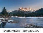 three sister mountain during... | Shutterstock . vector #1059329627