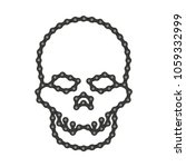 vector human skull made of bike ...