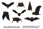 vampire bat flying cartoon... | Shutterstock .eps vector #1059333167