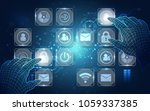 vector  touch the future... | Shutterstock .eps vector #1059337385