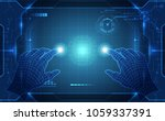 vector  touch the future... | Shutterstock .eps vector #1059337391