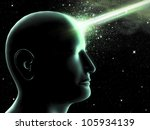 humanoid with his knowledge of... | Shutterstock . vector #105934139
