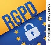 gdpr  general data protection... | Shutterstock .eps vector #1059352991