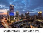 modern city skyline and... | Shutterstock . vector #1059354491