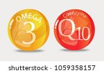 coenzyme q10  omega 3. a... | Shutterstock .eps vector #1059358157