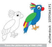 blue parakeet to be traced only ... | Shutterstock .eps vector #1059366191