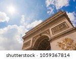 vision  from below the arc de... | Shutterstock . vector #1059367814