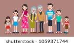 lovely family characters  set... | Shutterstock .eps vector #1059371744