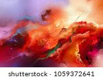 abstract colorful oil painting... | Shutterstock . vector #1059372641