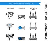 electronics device icon set.... | Shutterstock .eps vector #1059373901