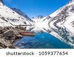 ski in chile on a sunny day... | Shutterstock . vector #1059377654