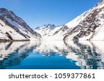ski in chile on a sunny day... | Shutterstock . vector #1059377861