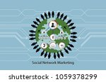 people network icon concept... | Shutterstock .eps vector #1059378299