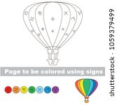aerostat rainbow to be colored... | Shutterstock .eps vector #1059379499