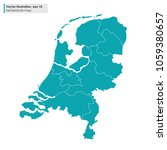 netherlands map with regions... | Shutterstock .eps vector #1059380657