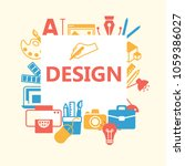 design outline icons set.... | Shutterstock .eps vector #1059386027