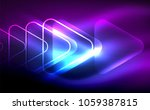 glowing vector triangle... | Shutterstock .eps vector #1059387815