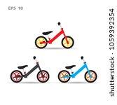 balance bike 3 colors.vector... | Shutterstock .eps vector #1059392354