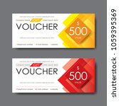 gift voucher template  vector | Shutterstock .eps vector #1059395369