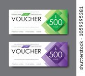 gift voucher template  vector   Shutterstock .eps vector #1059395381