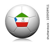 Equatorial Guinea Flag Pattern 3d rendering of a soccer ball - stock photo