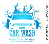 car wash cartoon logo. flat... | Shutterstock .eps vector #1059399464