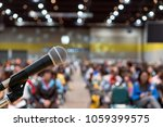 microphone over the abstract... | Shutterstock . vector #1059399575