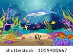 the beauty of the sea. there...   Shutterstock .eps vector #1059400667