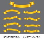 gold ribbons set.golden ribbon... | Shutterstock .eps vector #1059400754