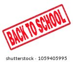 back to school rubber stamp on... | Shutterstock . vector #1059405995