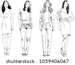 vector drawings on the theme of ... | Shutterstock .eps vector #1059406067