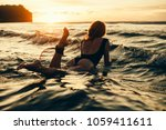 Surfing Surfer Woman Babe Beac...