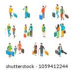 isometric travel people...   Shutterstock .eps vector #1059412244