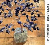 crystal stone gemstone tree on... | Shutterstock . vector #1059413351