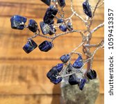 crystal stone gemstone tree on... | Shutterstock . vector #1059413357