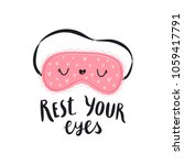 rest your eyes  vector... | Shutterstock .eps vector #1059417791