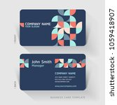 business card abstract... | Shutterstock .eps vector #1059418907