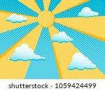 Sun And Clouds In Blue Sky....