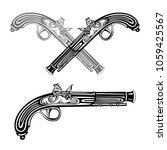 flintlock. crossed flintlock... | Shutterstock .eps vector #1059425567