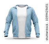 men's hooded zip up sweatshirt... | Shutterstock . vector #1059425651