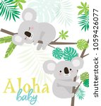 aloha baby card for baby shower ... | Shutterstock .eps vector #1059426077