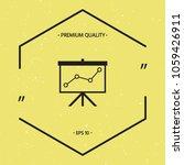 flip chart  projection screen... | Shutterstock .eps vector #1059426911