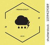 cloud thunderstorm lightning...   Shutterstock .eps vector #1059429389