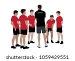 coach coaching sport team | Shutterstock .eps vector #1059429551