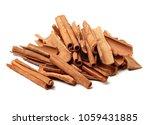 cinnamon on white background  | Shutterstock . vector #1059431885