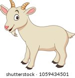 cartoon funny goat isolated on... | Shutterstock .eps vector #1059434501
