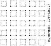 set of frame silhouette   Shutterstock .eps vector #1059436727