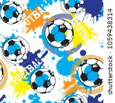 abstract seamless football... | Shutterstock .eps vector #1059438314