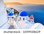 santorini  greece. oia  white...   Shutterstock . vector #1059438629