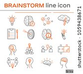 set of icons  brainstorm. | Shutterstock .eps vector #1059438671